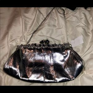 Lovely Silver Boutique Purse